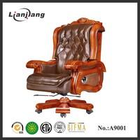Luxurious antique wooden swivel chair wholesale