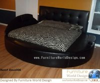 Round Bed With 2 Side Storage