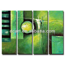 modern abstract human figure oil painting