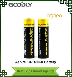 Hight quality dry battery 18650 3.7v Aspire 18650 rechargeable battery aspire 40A 18650