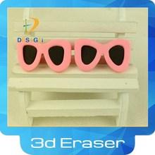 2015 borrador de la historieta para niños 3d rosa gafas de sol borrador de lápiz