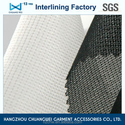 China 100% polyester garment chemical bond fusible interlining fabric(5702) With SGS