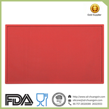 Red Heat Resistant Anti-slip Cooling Silicone Hot Pad