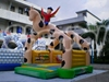 Commercial Horse Man inflatable bouncy castle