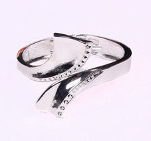 2015 new sliver diamond thick metal bangle bracelet women arm cuff