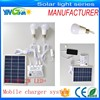 rechargeable emergency Home solar power cellphone charger systems with 2 lamps