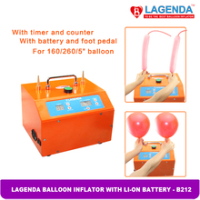 B212 Birthday party Lagenda Balloon Inflator