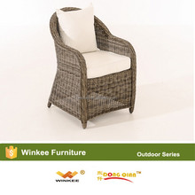Leisure patio rattan sofa chair on living room or outside