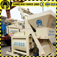 construction equipment high speed JS1000 horizontal twin shaft self loading concrete mixer