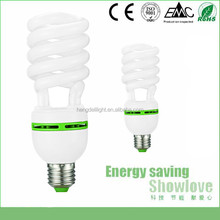 spiral 20/25/30/32watt CFL energy save tube diameter 12mm high quality