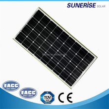 Sunerise brand solar panels 12v mono 80watt pv solar panel price