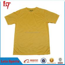 OEM Cheap 100% Cotton Plain Yellow T Shirt for Men