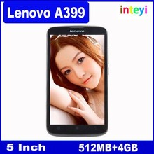 Original Lenovo A399 Mobile Phone 5 inch MTK6582 Quad Core 1.3GHz Android 4.4 Wifi 3G WCDMA Dual SIM Smart Phone