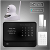 Smart house security alarm system, GSM SMS alert alarm center & wireless home security alarm system WiFi network