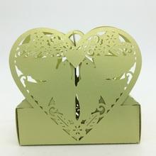 2015 Laser Cut Paper Cyan Love Birds Heart Irregular Shape sweet box,Chocolate packaging box,European candy box wholesale