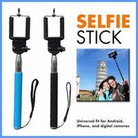 Gift shop wholesale cheap handheld portrait selfie stick for mobile phone