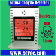 Formaldehyde Monitor Detector Formaldemeter Temperature Humidity Moisture Meter with Alarm For Home Use