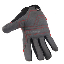 Palm- microfiber with foam padding Back- spandex personal protective equipment safety glove