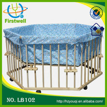 woode frame baby playpen,cheap baby play yard bed