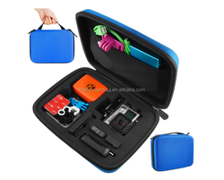 2014 EVA carring and travel case with foam for Go pro case