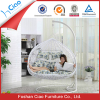 Outdoor teardrop swing chair two seat hanging papasan chair