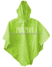 Promotional kids 100% PVC waterproof poncho raincoat
