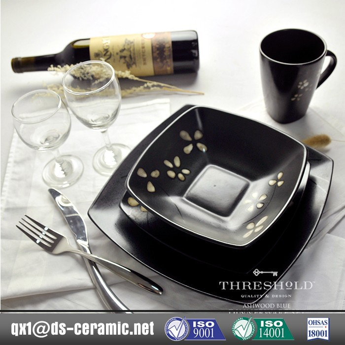 wholesale low price high quality stoneware square dinnerware sets