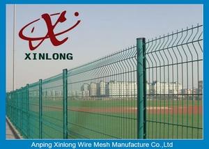 شبكة أسلاك السياج/متعرج سياج سلكية ملحومة/3 طيات الملحومة شبكة أسلاك السياج مع راؤول 6005 اللون