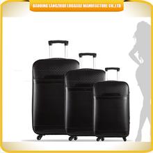 Alibaba China Hot Sale Fashion Vintage PU travel Luggage Set and 3 PCS luggage bag with 4 wheels