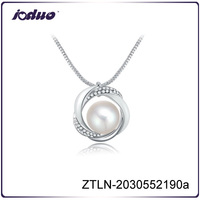 Charm chain type pearl chain necklace designs bridal