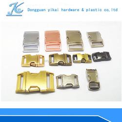 YIKAI metal side release bag buckle /lock metal bag buckle/metal buckles for paracord bracelet