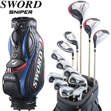 Katana golf 2014 model SWORD SNIPER club full set, Fujikura original Motore Speeder shaft specifications, with caddie bag