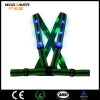 belt design flashing led reflective safety vest