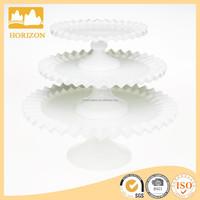 Hand Made Wholesale white milk glass cake stand