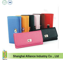 Colorful lady PU wallet exporte to UK