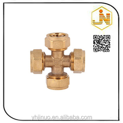 Low Price Best Sell Brass Pipe Cross Connector