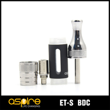 Newest ecig stainless steel and glass aspire et-s bdc atomizer