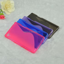 S Shape Gel TPU Material Cell Phone Case for Sony Xperia Z1 L39H