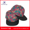 OEM flat brim snapback cap floral printed snapback cap