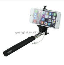 Wholesale Extendable Wired Selfie Monopod Stick Built-in Shutter + Mount Holder Remote Button For iPhone for Samsung Smartphone