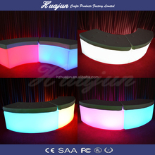LED Cube chair Color Changing Plastic Coffee Chair Table For Bar Night