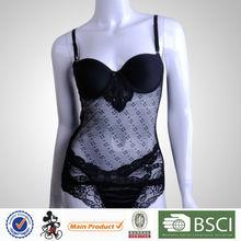 Factory Supplier Fashion Mature Women Black Sexy Transparent Sleeping Wear
