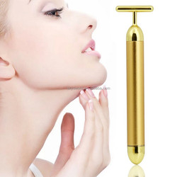 CE ROHS 2015 Newest 24K waterproof Gold Energy Beauty Bar for Massage/Skin Tightening/Face Slimming T shape