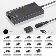 Automatic Universal 90W laptop adapter automatic voltage LED display usb port