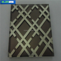 toughened pattern laminated wired glass