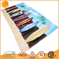 100% cotton custom printed cotton towel for beach promotion supersoft Cheap 2015 hotsale China OEM high quality Velour