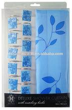 tela de la cortina de ducha de poliéster cortina de la ducha