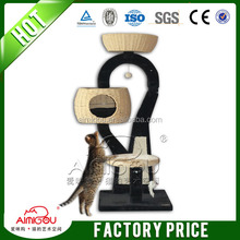 Top quality paper rope cat tree wicker cat house for cat
