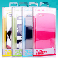 Hard Clear plastic phone case retail packaging boxes