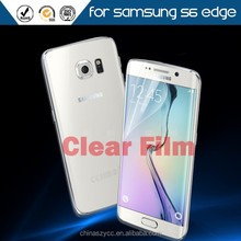 Ultra clear screen protector for Samsung galaxy s6 edge transparent screen guard protective phone film free sample